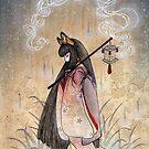 Bad Thoughts - Kitsune Fox Yokai  by TeaKitsune