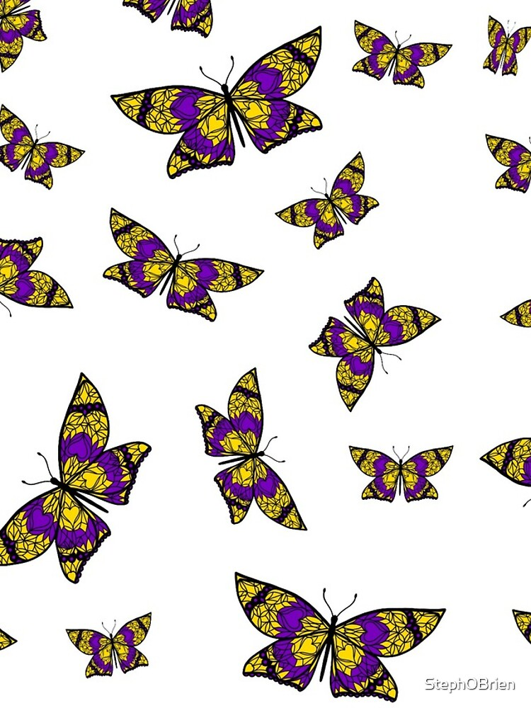 Fly With Pride: Intersex Flag Butterfly by StephOBrien