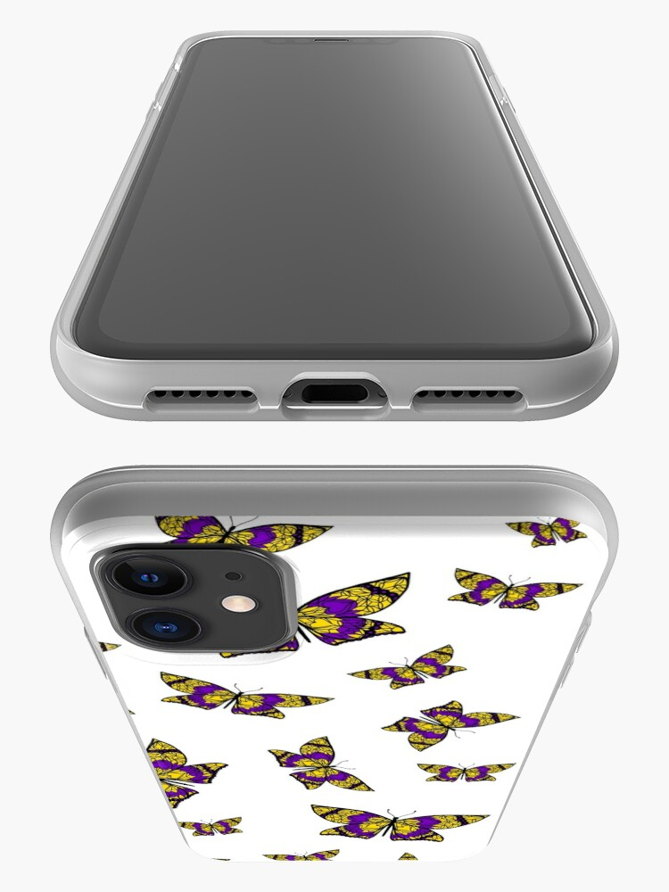 Alternate view of Fly With Pride: Intersex Flag Butterfly iPhone Case & Cover