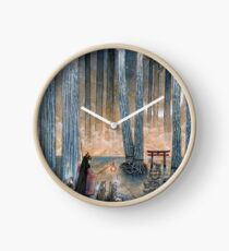 Beginning - Kitsune Fox Yokai Japanese Clock