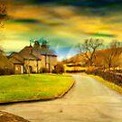 Downham Village & Countryside , full pano.  by Irene  Burdell