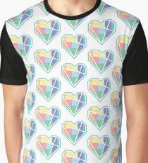 Love Heart Pastels Geometric Nordic Graphic T-Shirt