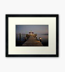 Roanoke Marshes Lighthouse At Dusk Framed Print