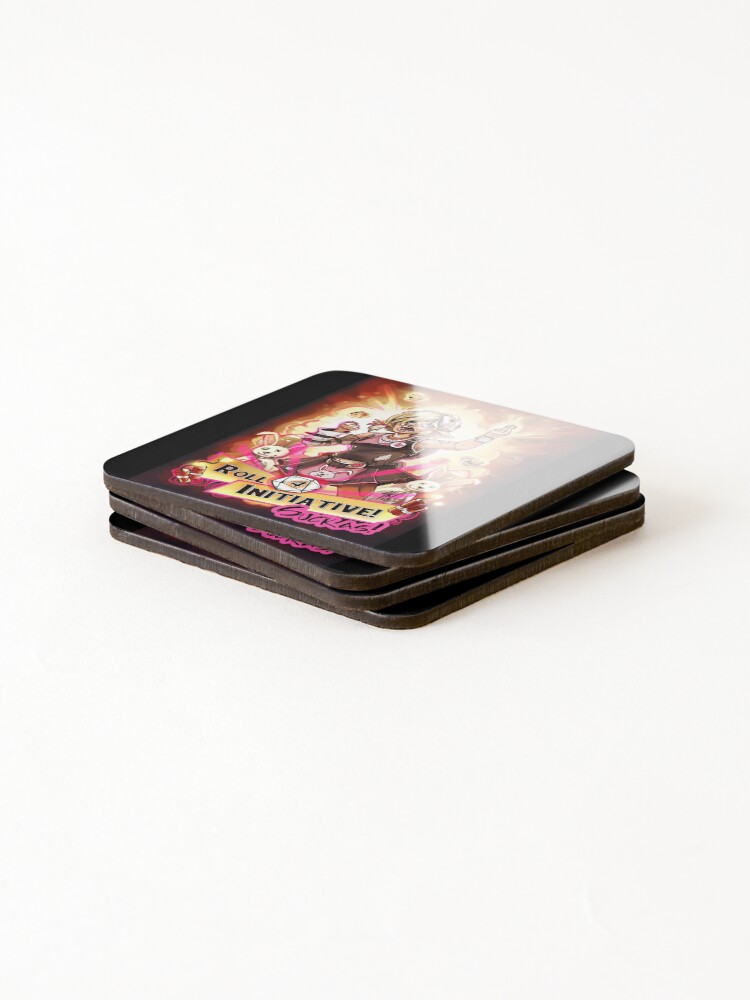 Alternate view of Roll for Initiative Suckas! Coasters (Set of 4)
