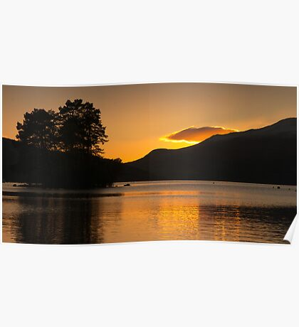 Sunset at Loch Tay Poster