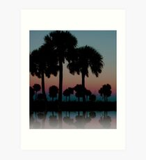 The Palms of Howard Park Art Print