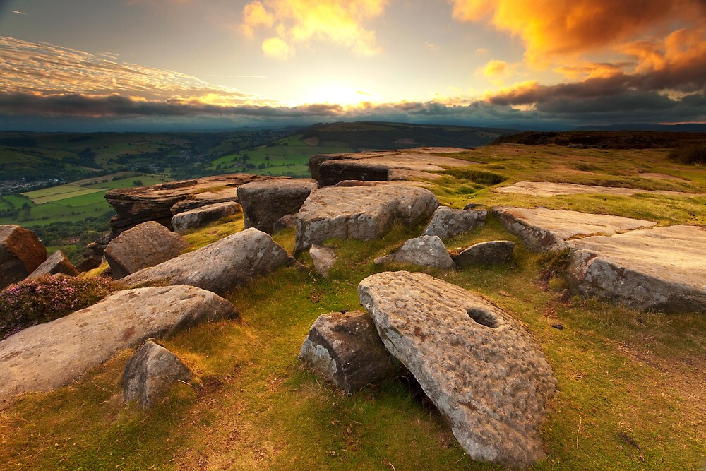 Curbar Edge Sunset by Roy Childs