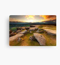 Curbar Edge Sunset Canvas Print