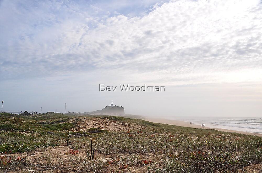 Nobby's in the Sea Mist - Newcastle NSW Australia by Bev Woodman
