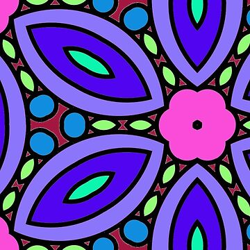 Pink and Purple Retro Flower Heaven by incurablehippie