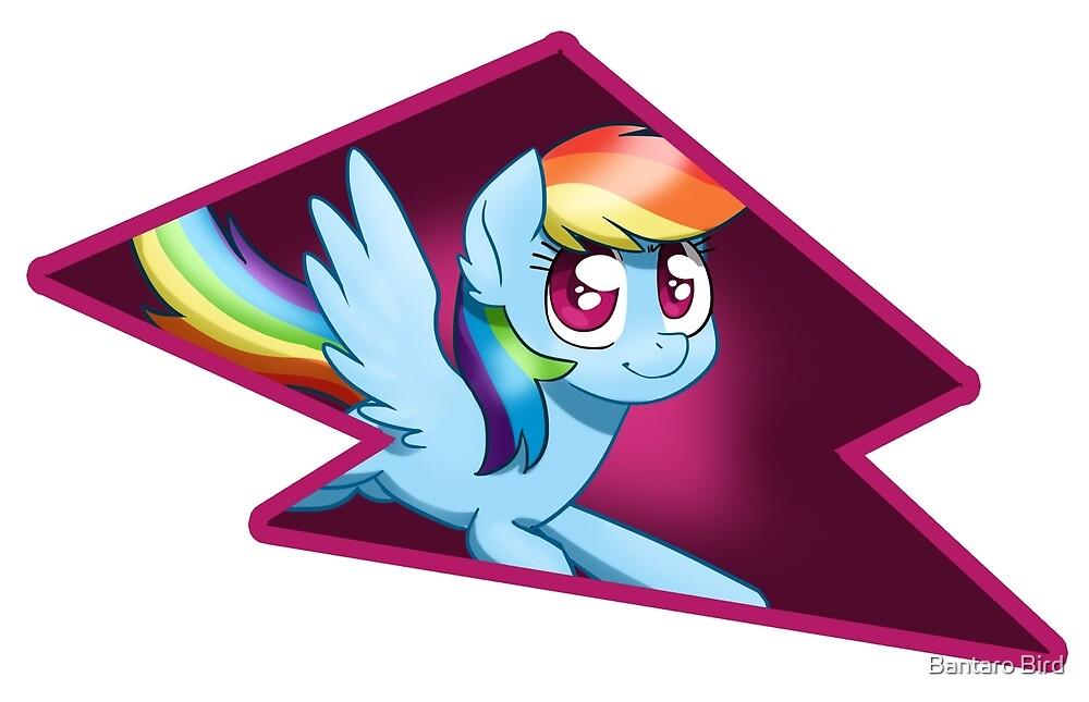 Rainbow Dash Bolt by Anna Hart