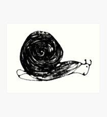 Scribbler Snail Art Print