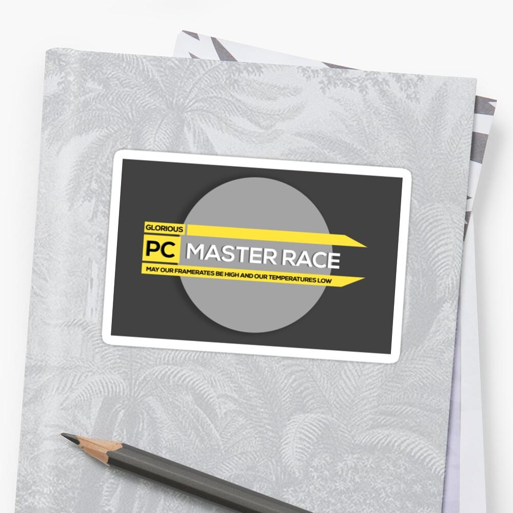 Glorious PC Master Race Sticker by ericbracewell