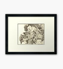 The Adventure of Reading (Girl version) Framed Print