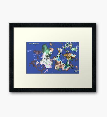 Map of Earthsea Framed Print