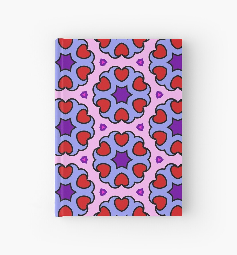 Hearts and Stars Repeating Pattern by incurablehippie