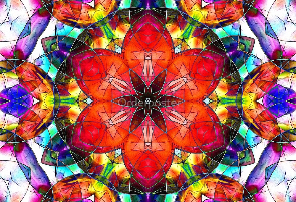 abstract stained-glass by Orderposter