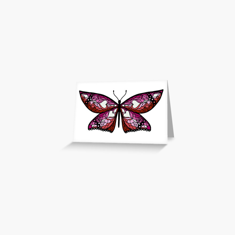 Fly With Pride: Lesbian Flag Butterfly Greeting Card