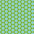 Green and Blue Batik-Style Pattern by incurablehippie