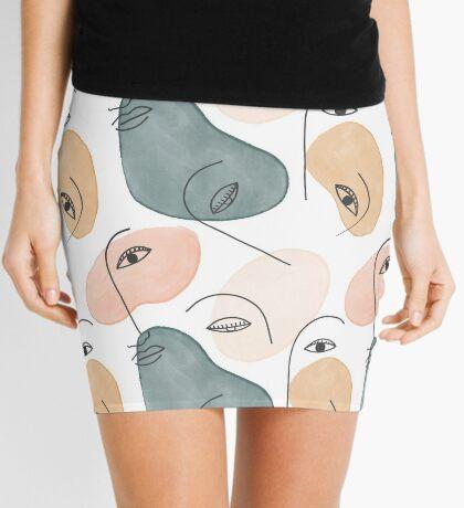Minimal Figurative Pattern #redbubble #buyart Mini Skirt