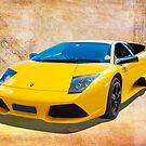 Super Car Yellow by Hawley Designs