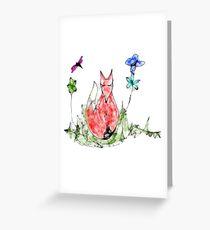 Fox Scribbler Greeting Card