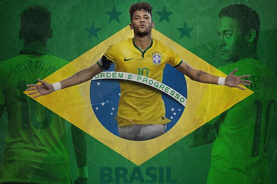"""Brazil Neymar Poster Design"""" Posters by NPDesigns 