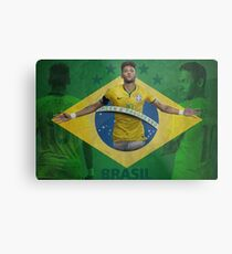 Brazil Neymar Poster Design Metal Print
