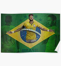 Brazil Neymar Poster Design Poster