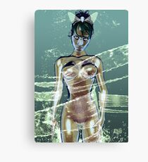 Lady Water Canvas Print