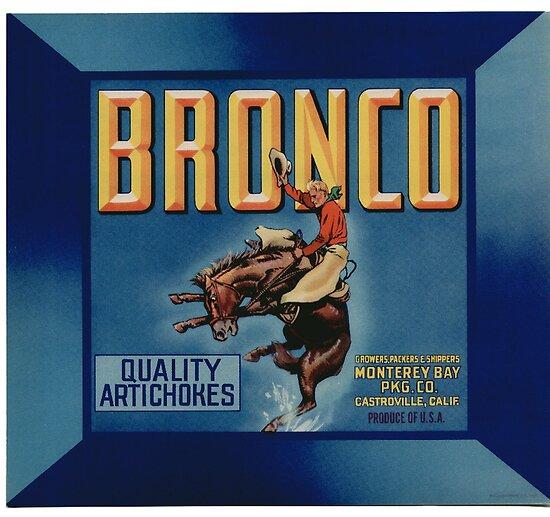 BLUE WINNER Apple Crate Label Okanogan WA Rodeo Cowboy