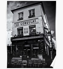 Restaurant Le Consulat at Montmatre - Paris Poster