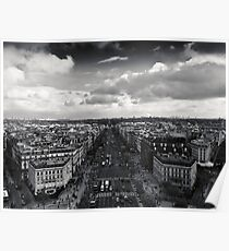 A view from Arc de Triomphe Poster