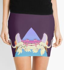 Ancient Psychic Tandem War Elephant Mini Skirt