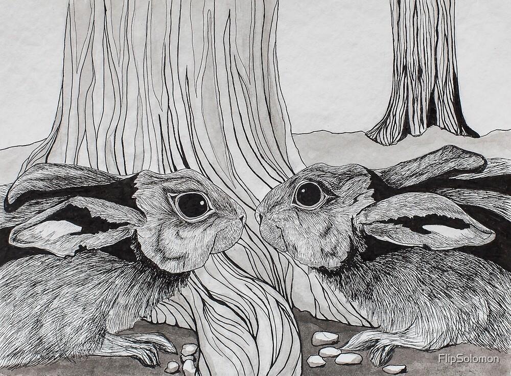 Kissing Cousins, bunnies by FlipSolomon