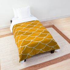 Gold Fish Scales Comforter