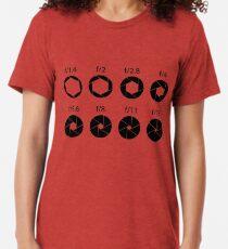 F-stops - Black Tri-blend T-Shirt