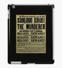 John Wilkes Booth Wanted Poster iPad Case/Skin