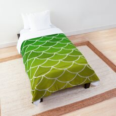 Green Yellow Fish Scales Comforter