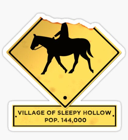 Headless Horseman Sign Sticker