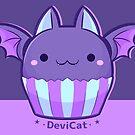 Pastel Goth Bat CupCake - 2019 (Dark Mode) by devicatoutlet