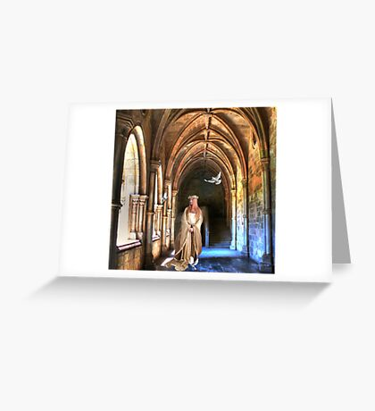 poetry in the cloister... Greeting Card