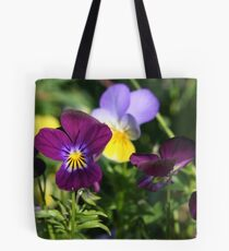 Playful Pansies Tote Bag
