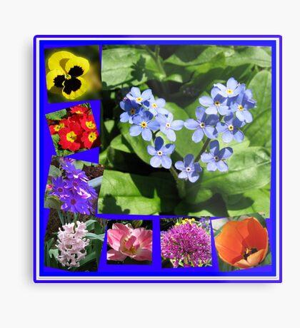 Waltz of the Flowers Collage Metallbild
