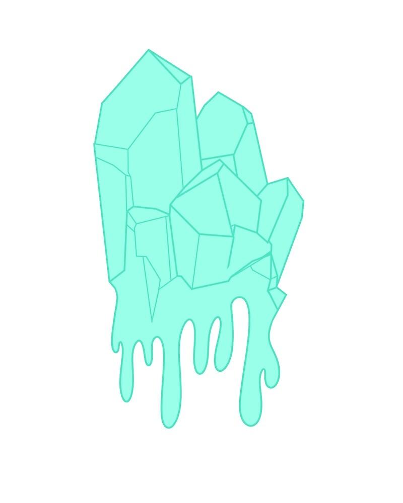 Melty Ice Crystal by JellyfishBunny
