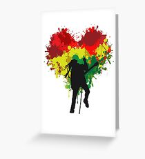 Bob Marley Dreadlock Rasta Heart Greeting Card
