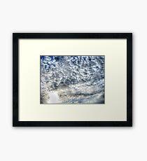 HDR Clouds Framed Print