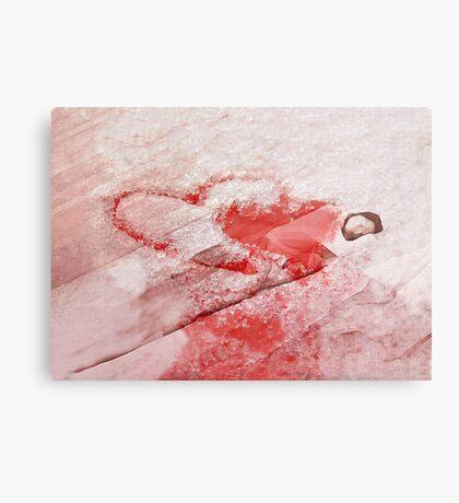 Turn to ice Canvas Print