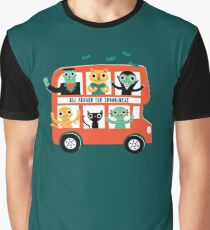 Spooky Bus Graphic T-Shirt