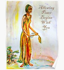 Allowing Peace Begins With You Poster
